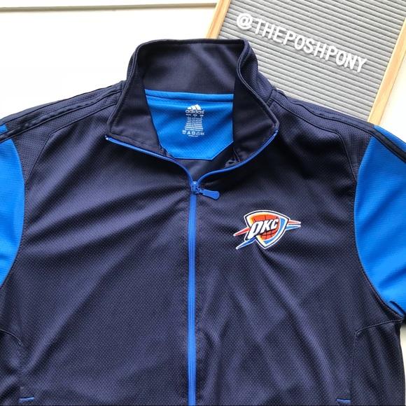 Men's Adidas Oklahoma City Thunder Zip Up Jacket